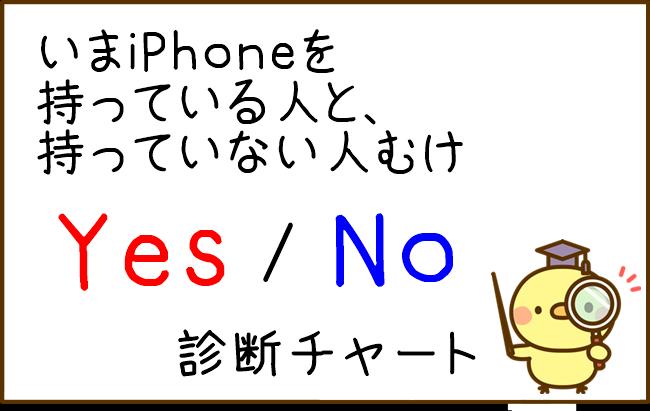 格安iPhoneに乗り換えたい人のためのイエスノー診断